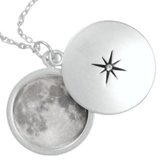 Super moon personalized necklace
