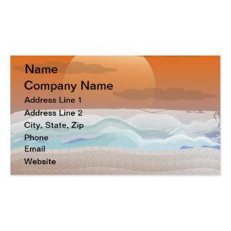 Super Moon on the Beach Business Card Templates