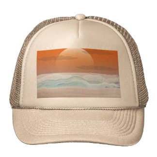 Super Moon on the Beach Mesh Hats