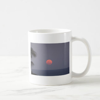 Super Moon over Ocean Coffee Mug