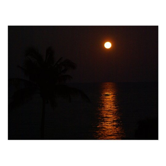 Super Moon over Ocean Postcard