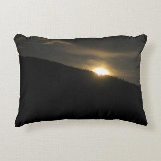 Super Moon over Washington Mountain Accent Pillow