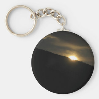 Super Moon over Washington Mountain Basic Round Button Keychain