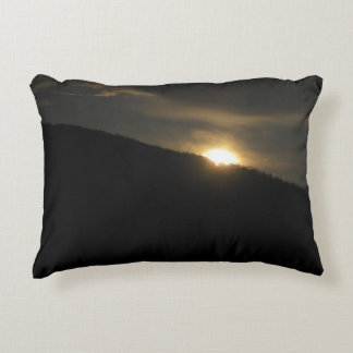 Super Moon over Washington Mountain Decorative Pillow