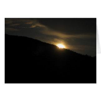 Super Moon over Washington Mountain Greeting Card