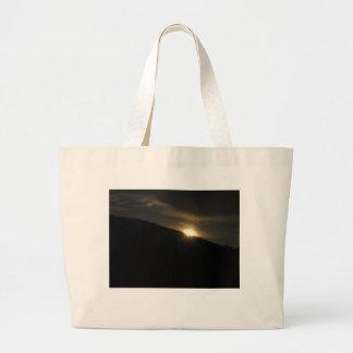 Super Moon over Washington Mountain Large Tote Bag