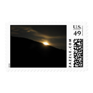 Super Moon over Washington Mountain Postage