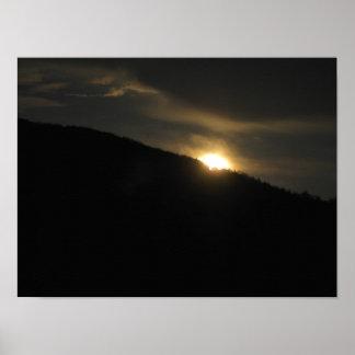 Super Moon over Washington Mountain Poster