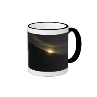 Super Moon over Washington Mountain Ringer Coffee Mug