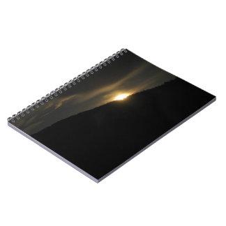 Super Moon over Washington Mountain Spiral Notebook