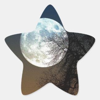Super moon star sticker