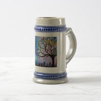 Super Moon & Tree Landscape Beer Stein