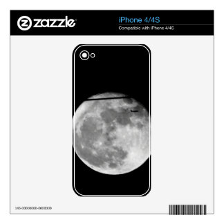 Super Moon with Airplane Passing/Customizable! Decal For iPhone 4