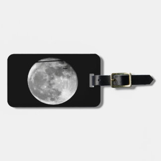 Super Moon with Airplane Passing/Customizable! Luggage Tag
