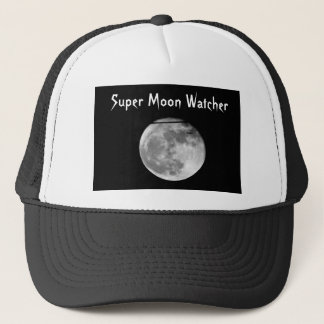 Super Moon with Airplane Passing/Customizable! Trucker Hat