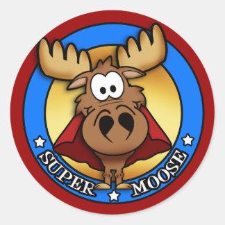 Super Moose Sticker Round Sticker