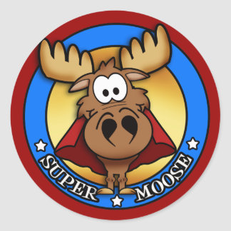 Super Moose Sticker