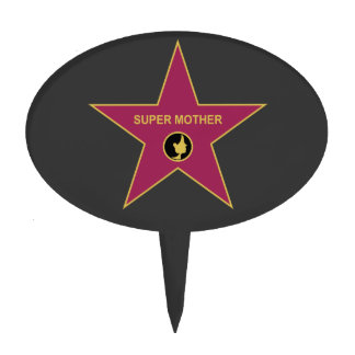 Super Mother - Hollywood Mother Star Cake Toppers