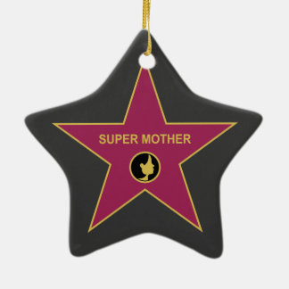 Super Mother - Hollywood Mother Star Double-Sided Star Ceramic Christmas Ornament