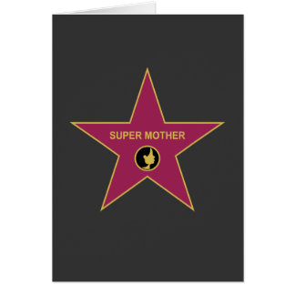 Super Mother - Hollywood Mother Star Greeting Card