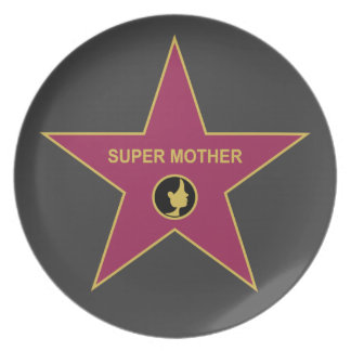Super Mother - Hollywood Mother Star Party Plate