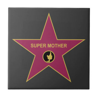 Super Mother - Hollywood Mother Star Small Square Tile