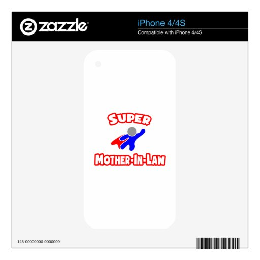 Super Mother-In-Law iPhone 4 Skin