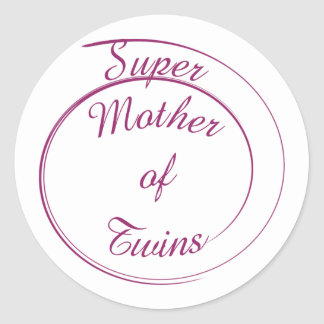 Super Mother of Twins Stickers