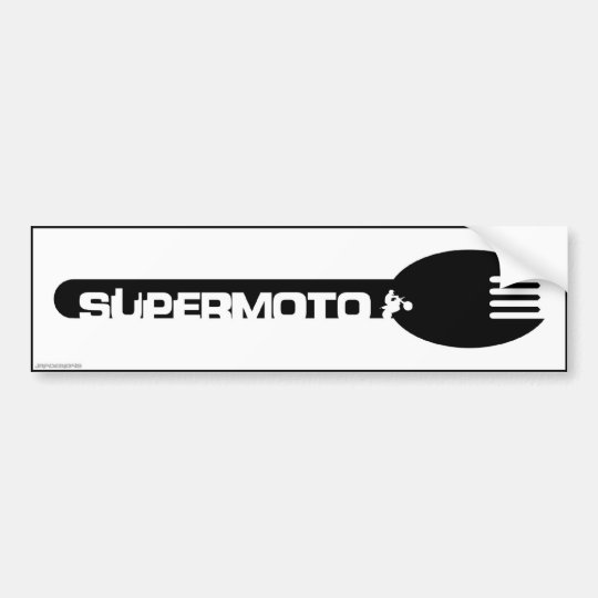 Super Moto Bumper Sticker Black