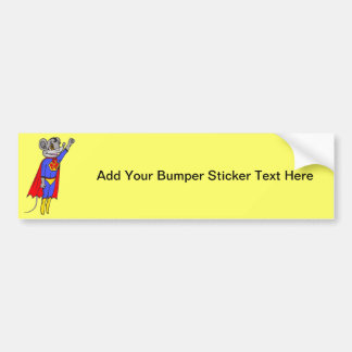 Super Mouse Bumper Sticker