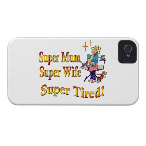 Super Mum, Wife, Tired. Design for Busy Mothers. Case-Mate Blackberry Case