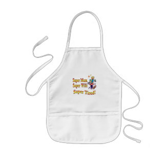 Super Mum, Wife, Tired. Design for Busy Mothers. Kids' Apron