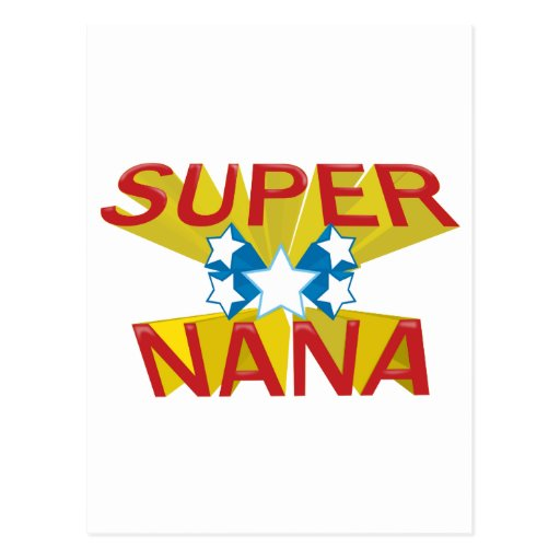 SUPER NANA POST CARD