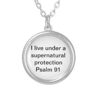 Super natural protection bible verse Psalm 91 Round Pendant Necklace