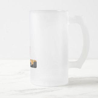 Super-Nerd Frosted Glass Beer Mug