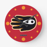 Hand shaped Super Ninja Hand Round Clock