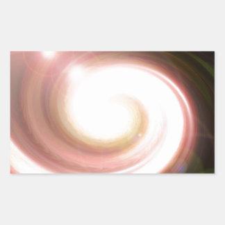 super Nova Black hole Rectangular Sticker