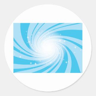 Super Nova Blue Round Stickers