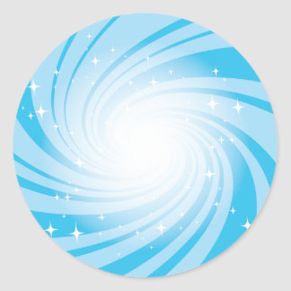 Super Nova Blue Round Sticker