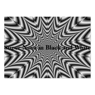 Super Nova in Black and White Large Business Card
