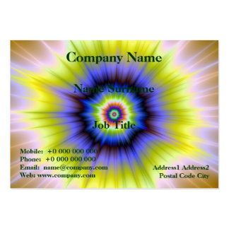 Super Nova in Blue and Yellow Card Large Business Card