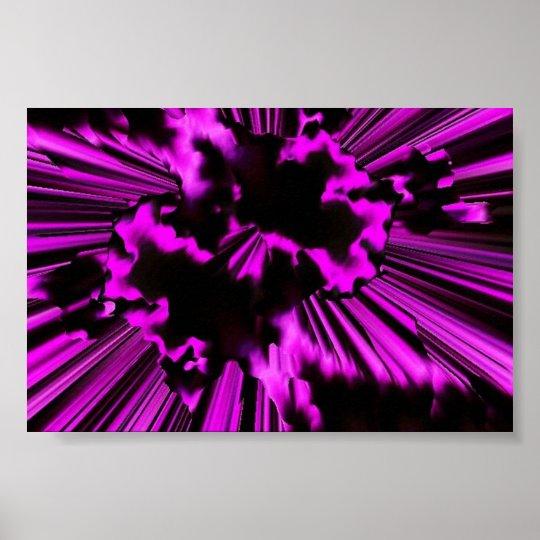 Super Nova Pink Poster