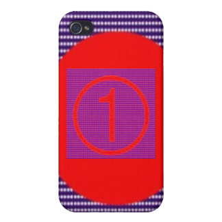 SUPER Numberone Squares n Rounds for TEXT iPhone 4 Cases