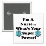 Super Nurse 2 Inch Square Button