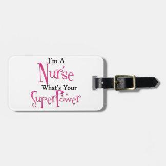 Super Nurse Bag Tag
