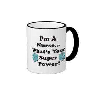 Super Nurse Ringer Mug