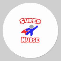 Super Nurse Round Sticker