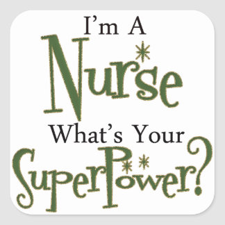 Super Nurse Square Sticker