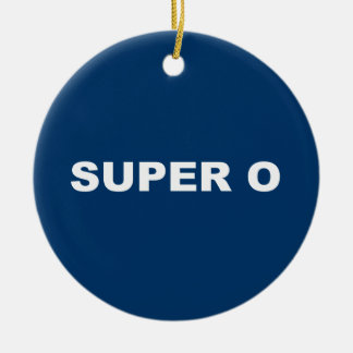 SUPER O Double-Sided CERAMIC ROUND CHRISTMAS ORNAMENT
