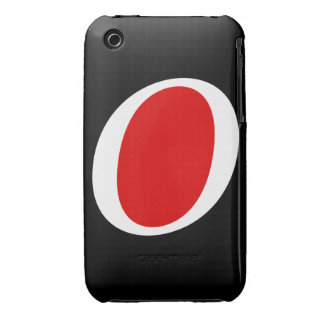 Super O whitered iPhone 3 Cover